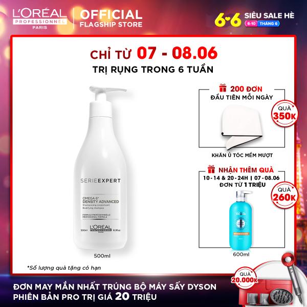 Dầu gội LOreal Professionnel Density Advanced 500ml giảm rụng tóc cao cấp