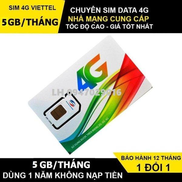 Sim 4G Viettel D500 Trọn Gói 1 Năm, Mỗi Tháng có 4GB DATA tốc độ cao, Không Cần Nạp Tiền Hàng Tháng