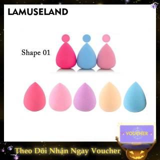 LAMUSELAND Powder Puff Foundation Liquid Droplet Face Sponge Light Makeup Heavy thumbnail