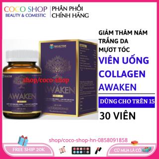 Viên uống đẹp da và tóc collagen giảm thâm nám tàn nhang, ngừa nếp nhăn, chống lão hóa - Hộp 30 viên thumbnail