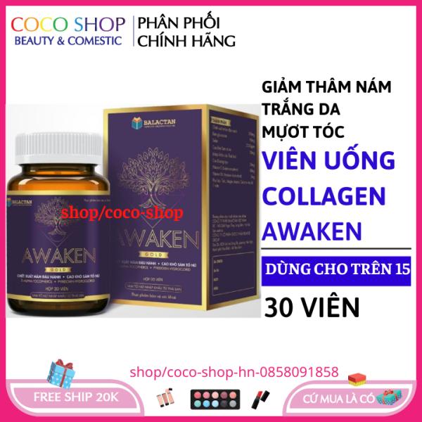 Viên uống đẹp da và tóc collagen giảm thâm nám tàn nhang, ngừa nếp nhăn, chống lão hóa - Hộp 30 viên giá rẻ
