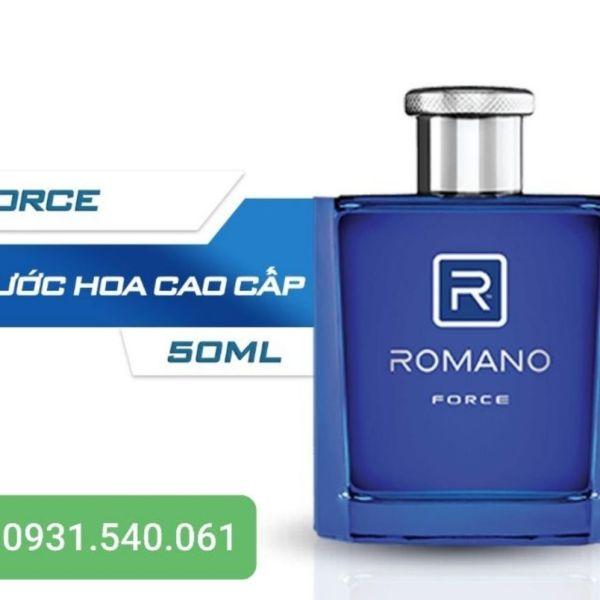 ROMANO NƯỚC HOA CAO CẤP 50ML FORCE (XANH DƯƠNG)