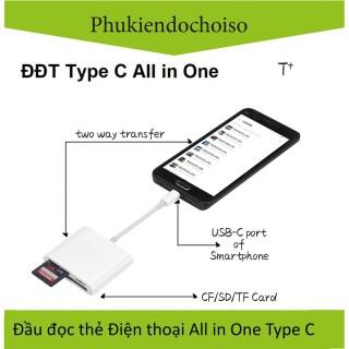 Đầu đọc thẻ điện thoại Type C All in One thumbnail