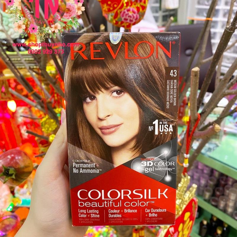 Thuốc nhuộm tóc Revlon ColorSilk số 43 - Nâu ánh kim vừa cao cấp