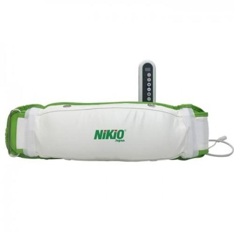 Máy Massage Giảm Mỡ Bụng Rung Và Nóng Nikio NK-168 (Trắng Xanh)