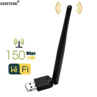 KEBETEME MT-7601 Bộ Chuyển Đổi USB WiFi 150Mbps Bộ Chuyển Đổi LAN Ăng Ten Không Dây Card Mạng Cho Bộ Chuyển Đổi USB Wifi Hàng Đầu