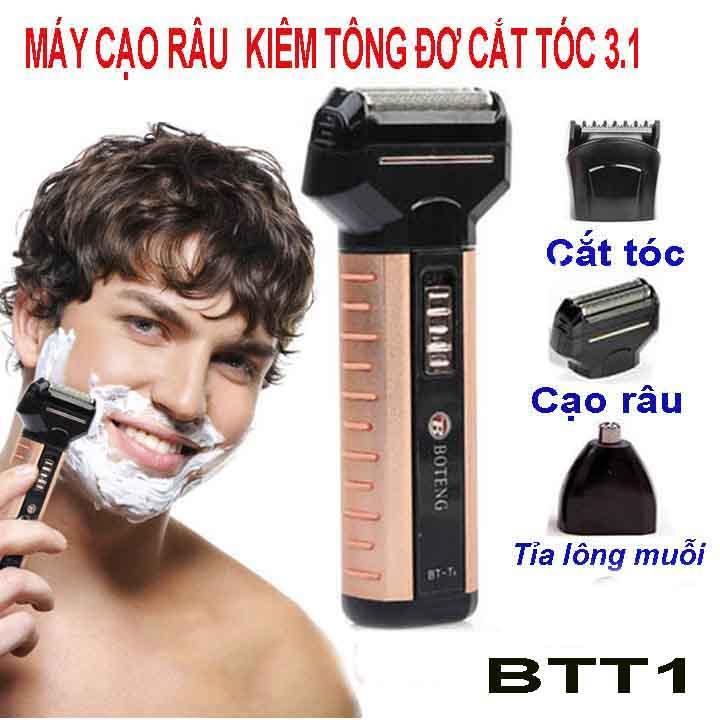 Máy cạo râu kiêm tông đơ cắt tóc, tỉa lông mũi BTT1