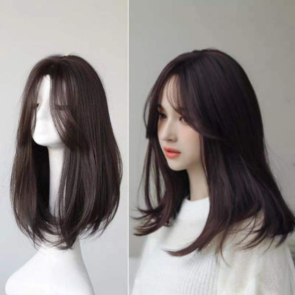 Tóc giả nữ ❤FREESHIP❤ TÓC Giả nguyên đầu cúp 2 mái hất nhập khẩu