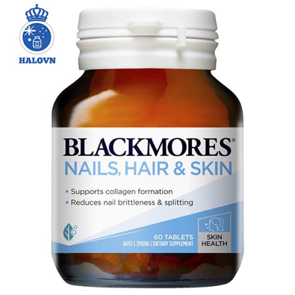 Blackmores Nail, Hair and Skin 60v - Viên uống chăm sóc tóc, da, móng Blackmore Úc - Haloco VN