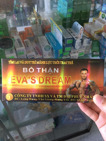 EVA DREAM ( 10 HỘP X 4 VIÊN) - BỒI BỔ SINH LỰC ĐÀN ÔNG nhập khẩu