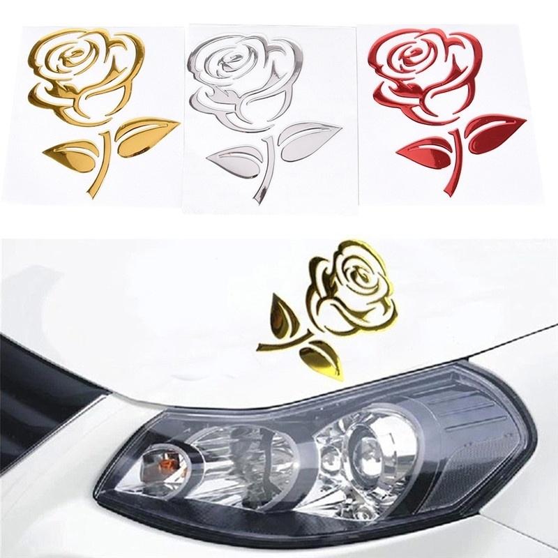 Miếng dán Sticker hoa hồng nổi 3D