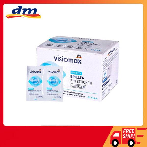 Giấy lau kính mắt Visiomax Đức 52 miếng, giấy lau màn hình điện thoại, giấy làm sạch ống kính máy ảnh
