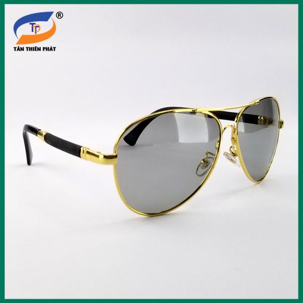 Mua Kính mát nam mắt đổi màu đi ngày và đêm 8856 - Gọng kính kim loại uốn dẻo - Kính đi đêm nam - Bảo hành 12 tháng - Sunglasses for men 2021