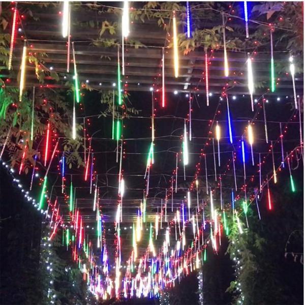 Đèn LED Sao Băng 8 Ống Trang Trí màu RGB