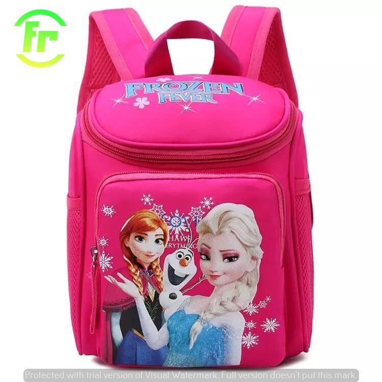 Giá bán Balo đi học trẻ em Chống Gù Hình Elsa Dễ Thương , balo nhỏ gọn cực bền  - Balo Frado-HCM