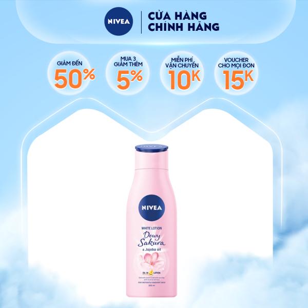 Sữa dưỡng thể dưỡng trắng da Nivea Dewy Sakura (200ml) - 85701 cao cấp