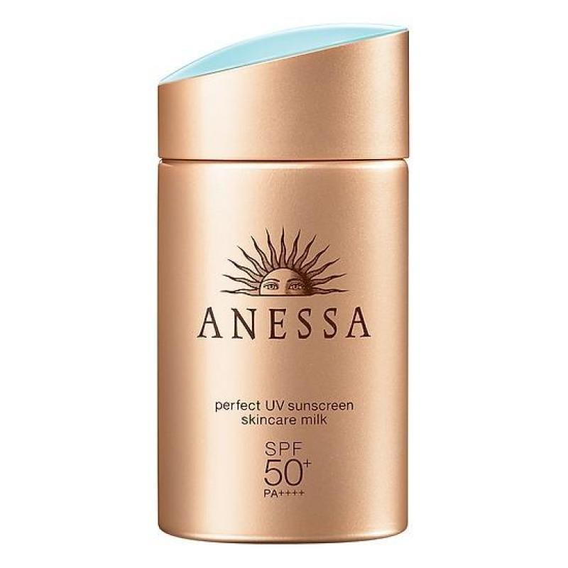 Sữa Chống Nắng Anessa SPF50+/PA++++ 60ml Perfect UV Sunscreen Skincare Milk nhập khẩu