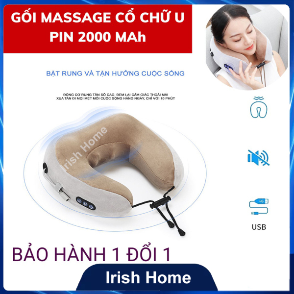 Gối massage cổ chữ U cao cấp đa năng thế hệ mới 2021, Gối Mát Xa Cổ Hồng Ngoại Chữ U chính hãng Máy mát xa cổ vai gáy hiệu quả kiêm gối ngủ tiện lợi, Thiết Bị Massage Sạc USB, Máy mát xa 3D cho người đau, mỏi Cổ, Vai, Gáy