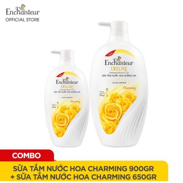 Combo Sữa tắm nước hoa Enchanteur Charming 900gr và Sữa tắm Charming 650gr giá rẻ