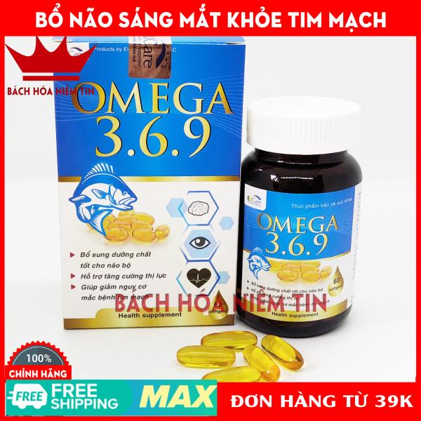 Viên dầu cá Omega 369 bổ não, sáng mắt, khỏe tim mạch - Hộp 60 viên chuẩn GMP Bộ Y Tế