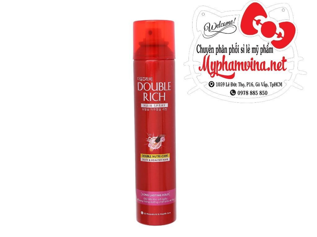 Keo Xịt tóc Double Rich dưỡng tóc 170ml nhập khẩu