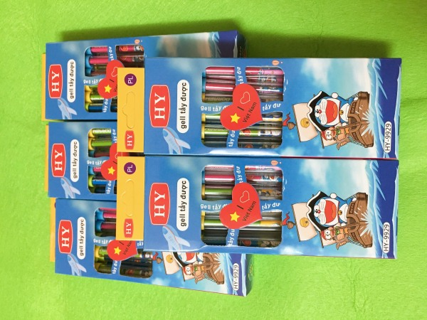 Mua Combo 05 Hộp Bút bi xóa được mực Tím mẫu Doraemon - 05 Hộp 60 cây