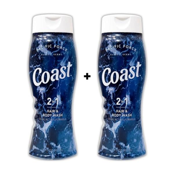 2 Chai Sữa tắm gội toàn thân Coast Hair And Body Wash 532ml/chai giá rẻ