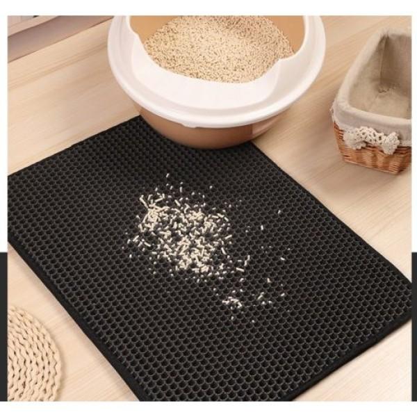 Thảm lót khay vệ sinh chống vương vãi cát cho mèo (40x50cm)