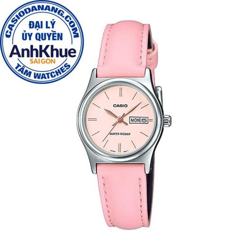 Đồng hồ nữ dây da Casio Standard Anh Khuê LTP-V006L-4BUDF