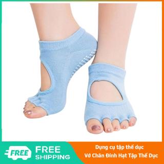 Vớ chân tập yoga đính hạt chống trơn trượt, tất hở ngón tập yoga vải thun co giãn thoáng khí hút mồ hôi - 84 Store thumbnail