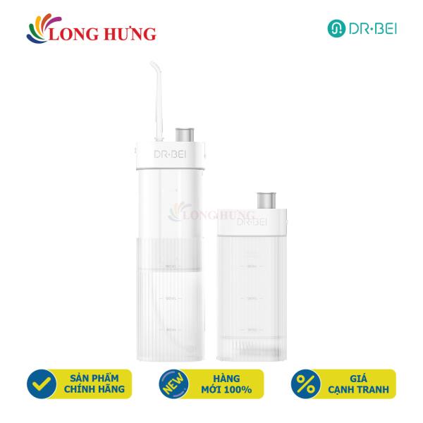 Máy tăm nước vệ sinh răng miệng Xiaomi Dr-BEI GF3 - Hàng nhập khẩu - Làm sạch bên trong kẻ răng, 3 chế độ phù hợp với người sử dụng, chống nước