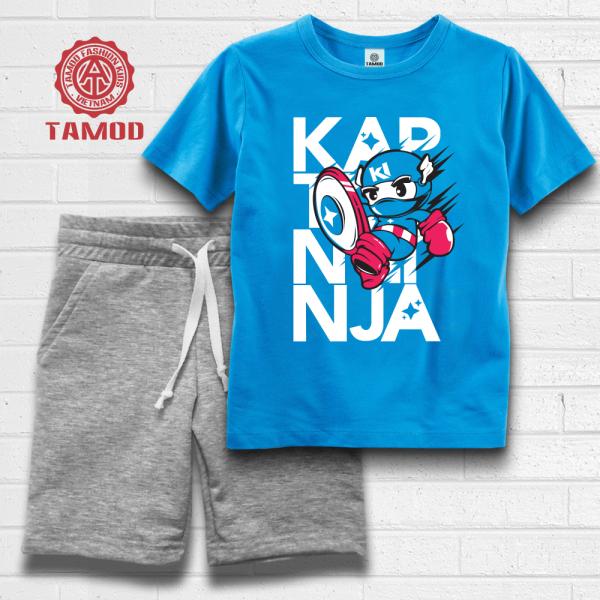 Quần áo bé trai hình Ninja Captain thương hiệu cao cấp TAMOD.