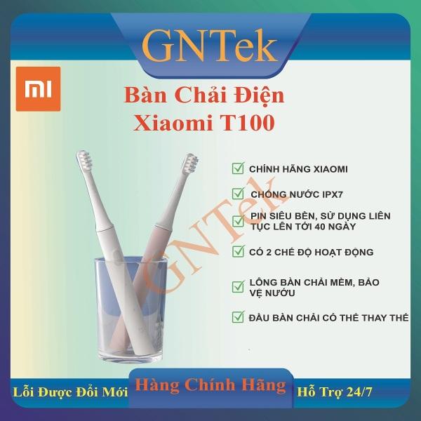 [CHÍNH HÃNG XIAOMI] Bàn chải điện thông minh Xiaomi Mijia T100 chống nước IPx7 bảo vệ nướu - Pin bền