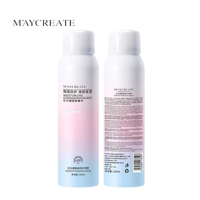 Chai xịt chống nắng và làm trắng da tức thì Maycreate tốt nhất