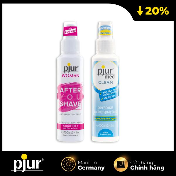 Combo Chất bôi trơn chăm sóc: pjur After You shave & pjur Med Clean Spray