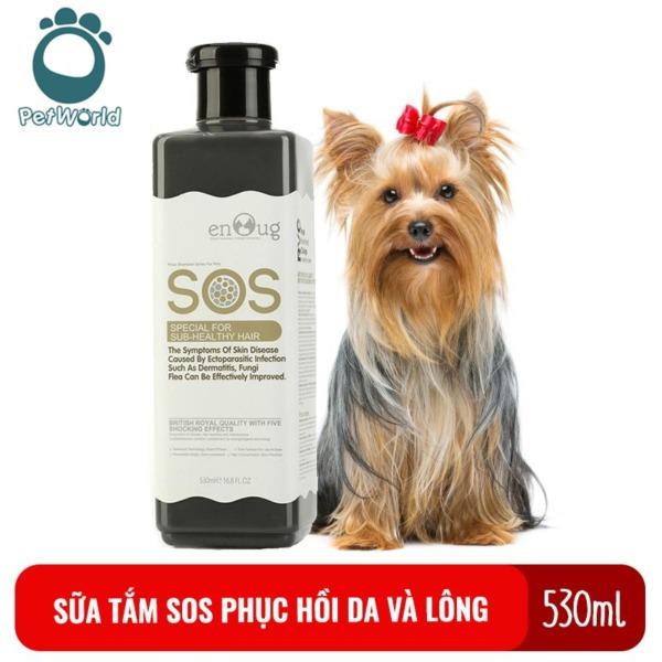 Sữa tắm SOS cho chó mèo giúp Phục hồi da, lông chai 530ml màu đen
