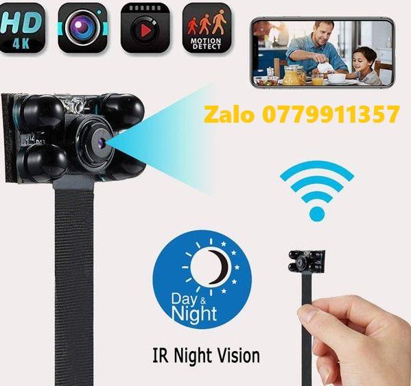 CAMERA Hồng Ngoại 4 Led Đen Chuyên Dụng Quay Đêm Cao Cấp V99 Plus FullHD 1080p 4K Hỗ Trợ Wifi IP Từ Xa CAMERA Mini DV - P2P Video Ghi Âm Kỹ Thuật Số Nhỏ cam Máy Quay Micro Cam