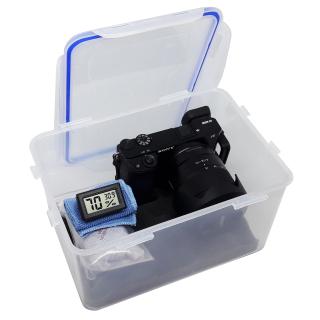 Combo hộp chống ẩm và ẩm kế, 100gram hạt hút ẩm xanh cho máy ảnh, máy quay phim - dung tích 5 lít (tặng mút xốp lót hộp) - 2TCAMERA-Q01110 thumbnail