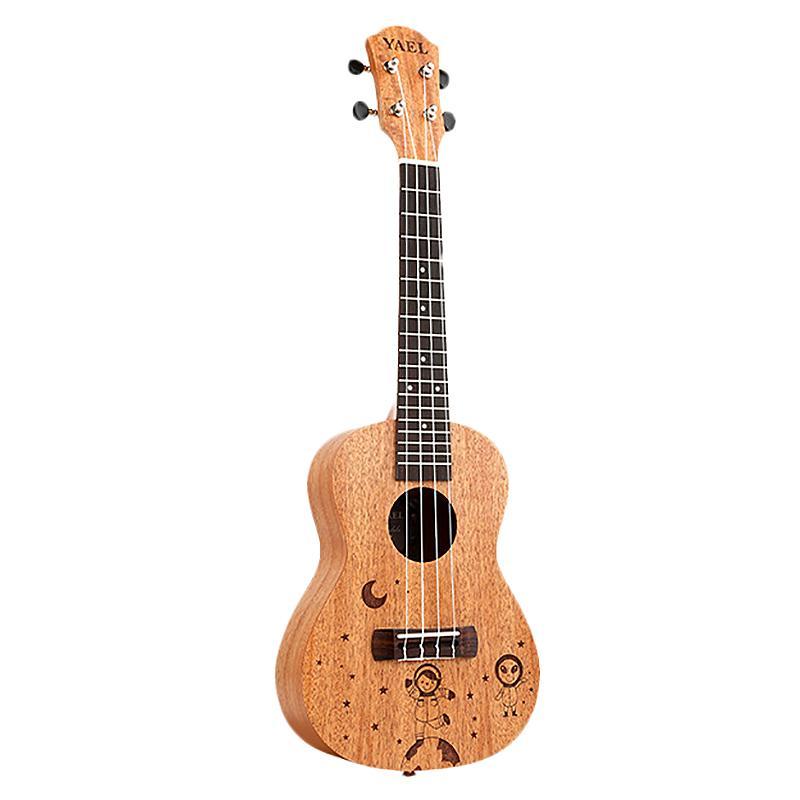 Yael 23 Inch Concert Ukulele 4 String Hawaiian Mini Guitar Uku Spacewalk Pattern Acoustic Guitar Mahogany Rosewood Ukelele