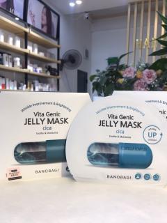 Mặt nạ phục hồi da, mờ thâm, giảm mụn cho da mụn Banobagi Vita Genic Jelly Mask Cica (1 hộp 10 miếng) thumbnail