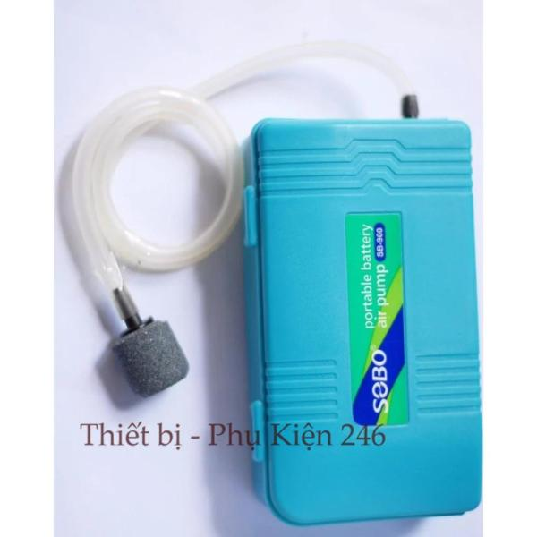Máy thổi oxy SB 960  dùng pin ( Tặng kèm dây oxi và viên sủi oxi bên trong máy+ pin)