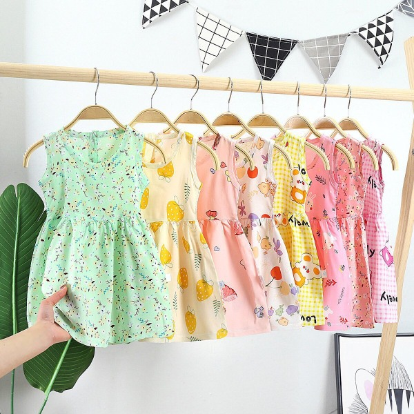Giá bán Váy/Đầm cho bé chất siêu mát size từ 9kg đến 20kg, vải lanh giá siêu rẻ hot 2021!! CHUBBY !!