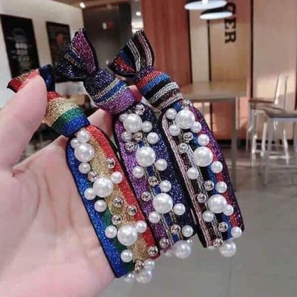 Giá bán [Nguyen Dung Fashion] Dây buộc tóc đính đá cực đẹp MS0909