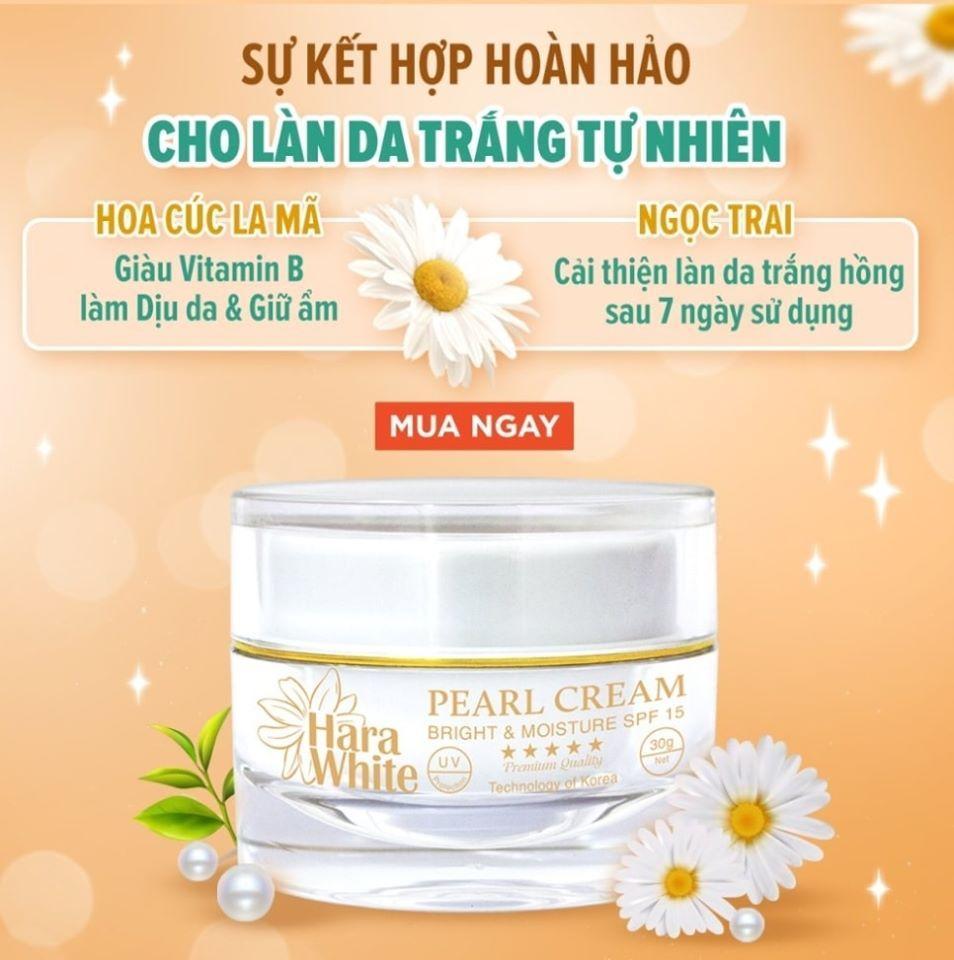 Kem dưỡng ban ngày Pearl Cream Hara White 30g nhập khẩu