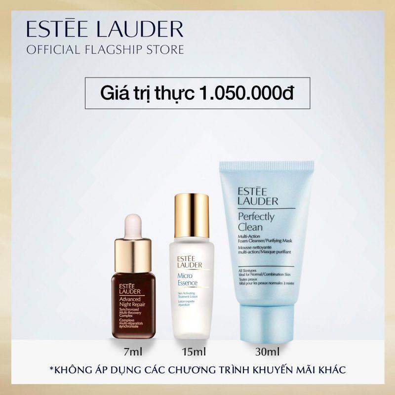 [PHIÊN BẢN TRẢI NGHIỆM] Bộ sản phẩm Làm Sạch + Phục Hồi Cơ Bản Estee Lauder 3 món (Giá trị thực 1,040,000đ) giá rẻ