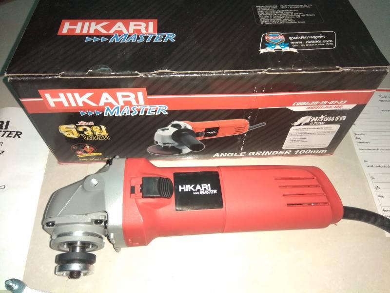 Máy mài góc cầm tay Hikari K6-100,670W,  madein  Thái lan,đá mài 100mm, màu đỏ