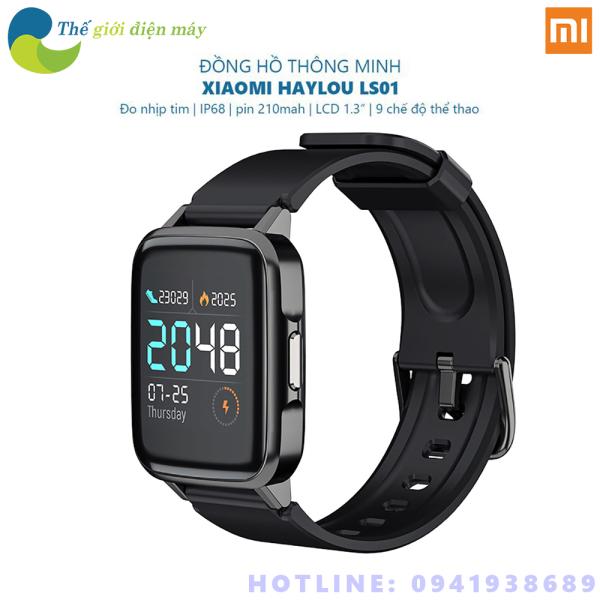 [Bản quốc tế ] Đồng hồ thông minh Xiaomi Haylou LS01 theo dõi sức khỏe - Shop Thế Giới Điện Máy