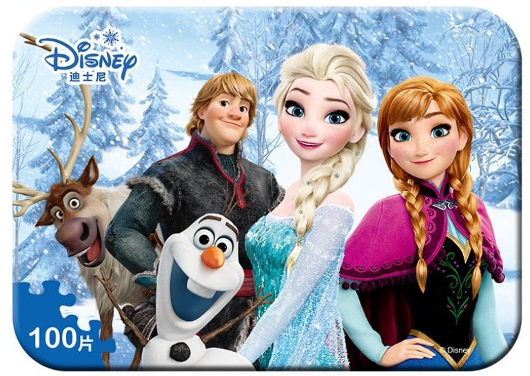 Giá Tiết Kiệm Để Sở Hữu Ngay Ghép Hình Puzzle 100 Mảnh Hộp In Dập Nổi - Ghép Tranh Elsa Và Anna