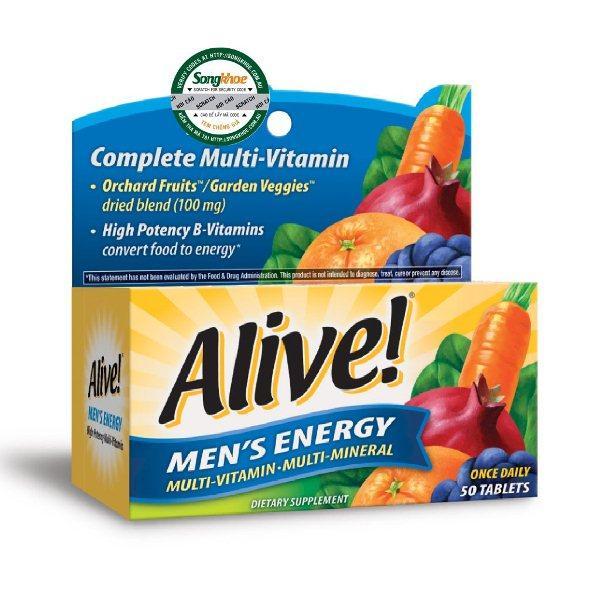 Vitamin Tổng Hợp Nam Giới Alive Men's Energy 50 Viên Giá Quá Ưu Đãi