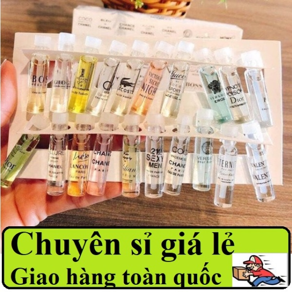 COMBO 5 Set nước hoa Mini 20 ống 2ml, Bộ 20 Ống Mẫu Thử Nước Hoa, nước hoa mẫu thử, nước hoa chiếc, thơm lâu